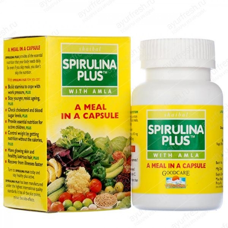 Спирулина Плюс (Spirulina Plus) 60 кап