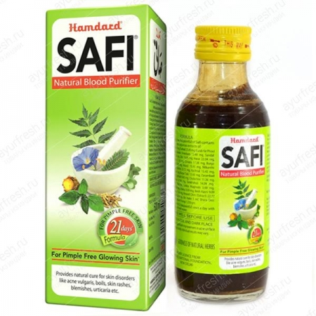Сафи сироп 100 мл, Hamdard Safi syrop - Natural Blood purifier
