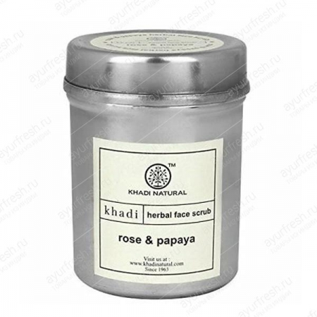 Скраб для лица Роза и Папайя (Rose & Papaya Face Scrub) 50 г