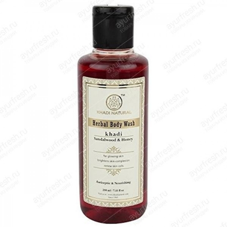 Гель для душа Сандал и Мед 210 мл Khadi Woody Sandal & Honey Body Wash