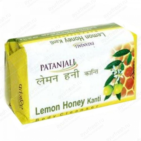 Мыло Лимон и Мед 75 г Patanjali Kanti Lemon Honey Soap