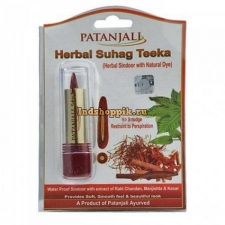 Синдур, Patanjali Herbal suhag teeka, 3gm