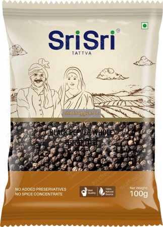 Черный перец целый 100 г, Sri Sri Tattva Kali Mirch (Black Pepper Whole)