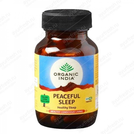 Мирный сон 60 кап, Peaceful Sleep Organic India