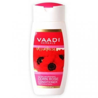 Кондиционер Мак и Гибискус 110 мл, Vaadi Ultra Nourishing Corn Rose Conditioner with Hibiscus Extract