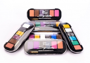 Тени для век палитра 6в1 8 гр, Signature 6in1 Vibrant Eyeshadow Palette Blue Heaven
