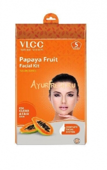 Набор для лица Папайя 5 сессий, VLCC Papaya Fruit Facial Kit 5 Session