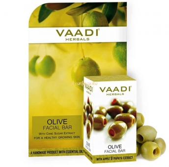 Мыло для лица Олива 25 г, Vaadi Olive Facial Bar with Cane Sugar Extract