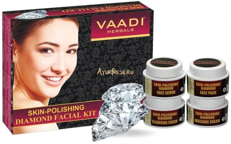 Набор Алмазный 70 г, Vaadi Skin-Polishing Diamond Facial Kit