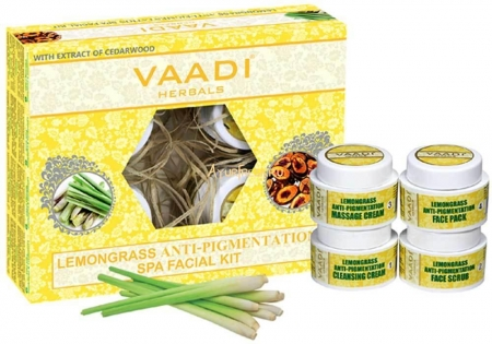 Набор Лемонграсс 70 г, Vaadi Lemongrass Anti-Pigmentation SPA Facial Kit With Cedarwood Extract