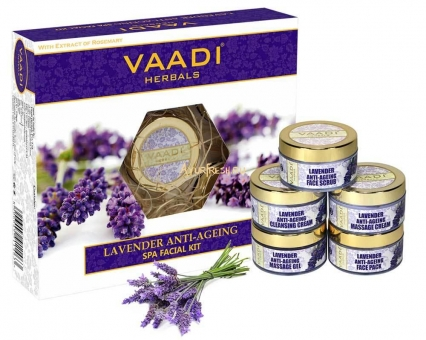 Набор Лаванда 270 г, Vaadi Lavender Anti-Ageing SPA Facial Kit with Rosemary Extract