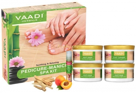 Набор для ухода за ногами 640 г, Vaadi Pedicure Manicure Spa Kit - Soothing & Refreshing