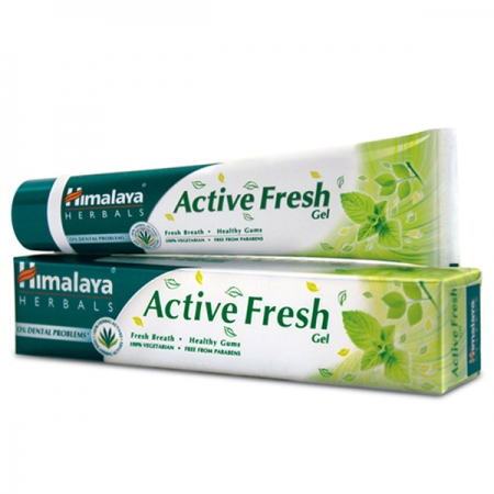 Зубная паста Актив Фреш 80 г, Active fresh gel Himalaya