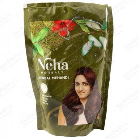 Хна для волос и татуажа Неха Хербал Мехенди 140 г, Neha Herbal Mehandi