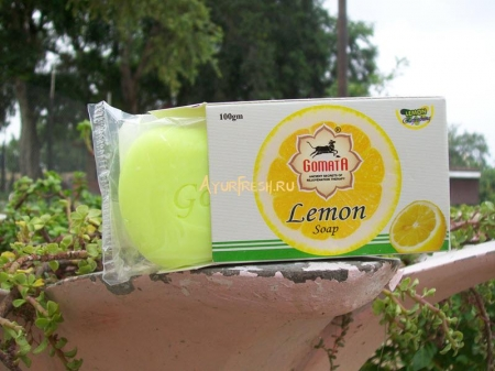 Мыло Лимон 100 г, Gomata Lemon Soap with foam