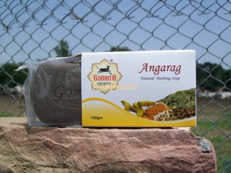 Мыло Ангараг 100 г, Gomata New Angarag Herbal Soap with foam